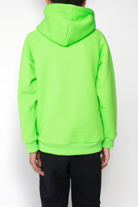 Kids Embroidered Irongate Arch Hoodie - Neon Green/Black