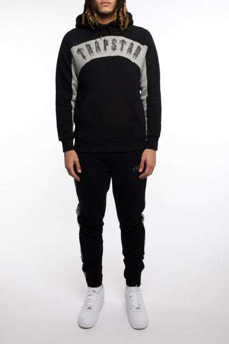 3D Embroidered Irongate Arch Panel Tracksuit - Black/Grey