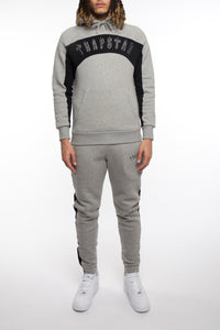 3D Embroidered Irongate Arch Panel Tracksuit - Grey/Black