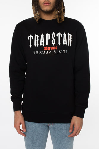 Trapstar Decoded x Sopranos Bada Bing Crewneck - Black
