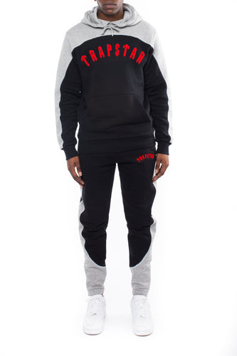 Irongate Arch Chenille Hooded Tracksuit -Black/Red/Grey