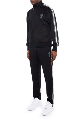 Irongate T Zip Tracksuit - Black/White