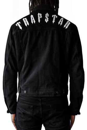 Irongate Arch Borg Denim Jacket - Black