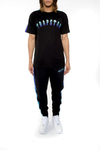 Gradient Arch Tee Tracksuit - Black