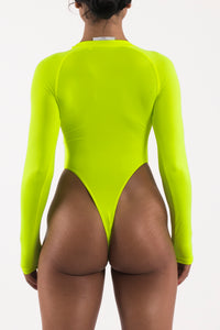 Irongate Panel Bodysuit - Neon Yellow/Black