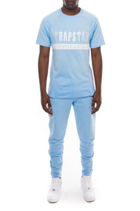 Decoded Panel Tee Tracksuit  - Cashmere Blue