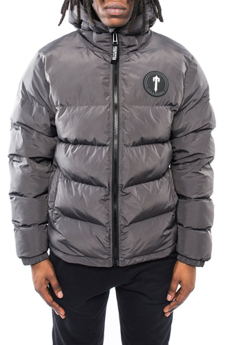 Mens Hooded Irongate Quilted Slim Fit Jacket - Ice Grey