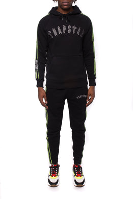 3D Embroidered Irongate Tape Tracksuit - Black/Neon Green