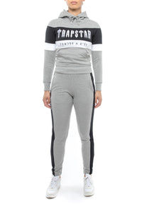 Women's Decoded Panel Crewneck Tracksuit - Grey/Black/White