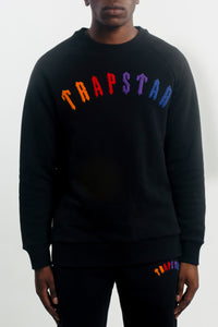 Chenille Crewneck - Black/Spectrum