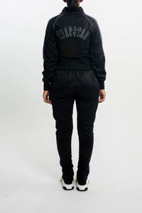 Womens Irongate T Spectrum Panel Zip Tracksuit - Black