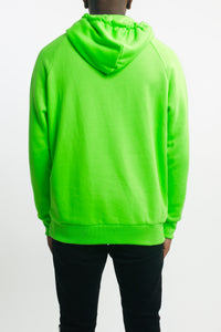 Embroidered Irongate Arch Hoodie - Neon Green/Black