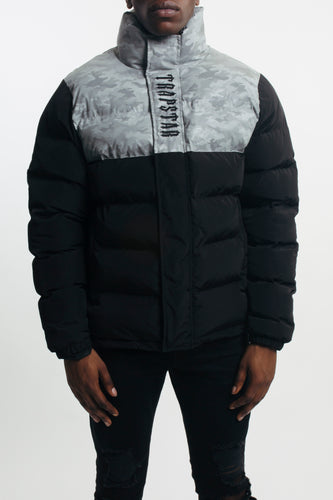 Mens Irongate Quilted Slim Fit Jacket  - Black/Reflective Camo