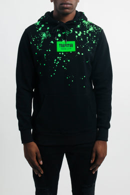 Decoded Patch Hoodie - Black/ Neon Green