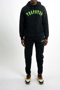 Embroidered Irongate Tracksuit - Black/Neon Green