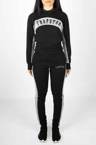 Womens 3D Embroidered Irongate Arch Panel Tracksuit - Black/Grey