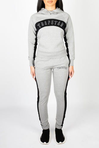 Womens 3D Embroidered Irongate Arch Panel Tracksuit - Grey/Black