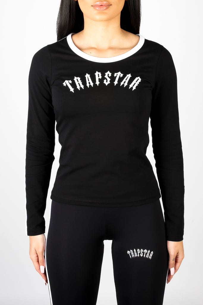 Women's Long-sleeve Irongate Comfort Fitted Tee - Black/White