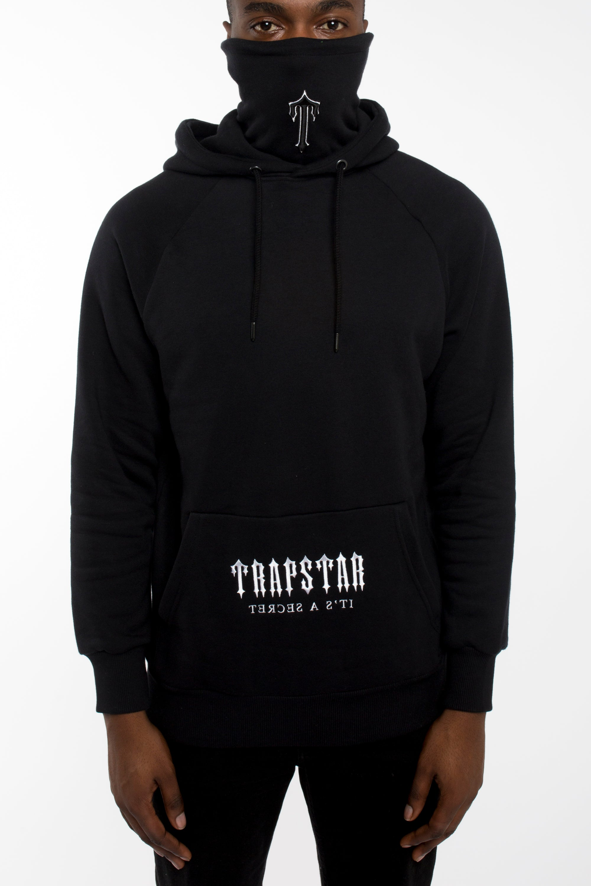 Irongate Snood Hoodie - Black/White