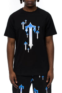 Chrome Allover Tee - Black/Blue
