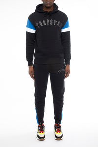 Embroidered Irongate Panel Tracksuit - Black/Blue/White