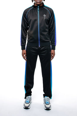 AW20 Irongate T Spectrum Panel Zip Tracksuit - Black