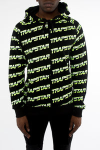 Trapstar Chrome Racer Hoodie - Black/Neon Yellow