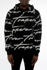 Allover Signature Hoodie - Black/Reflective