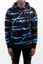 Load image into Gallery viewer, Allover Signature Hoodie - Black/Tie Dye