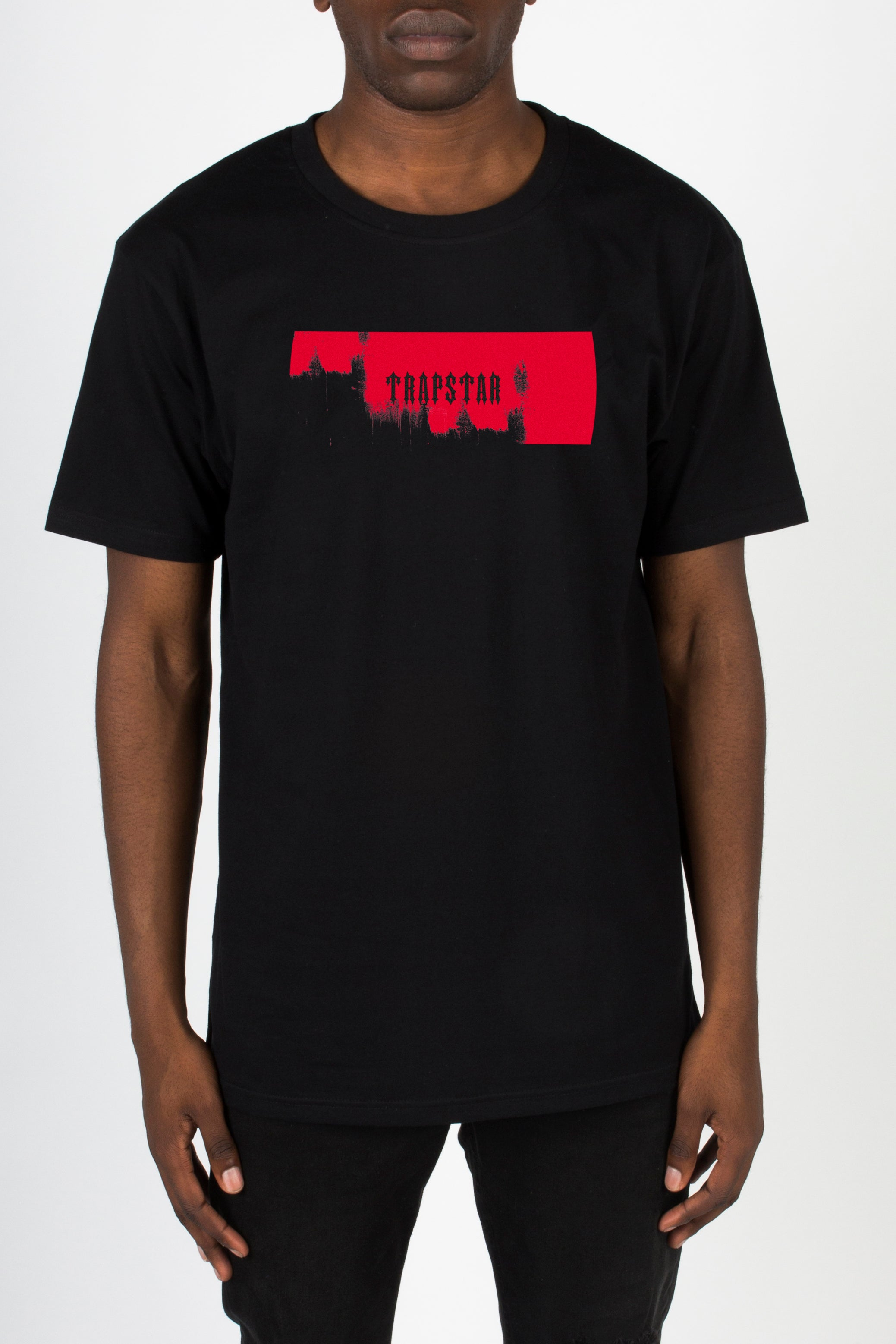 Paint Box Tee - Black/Crimson Red