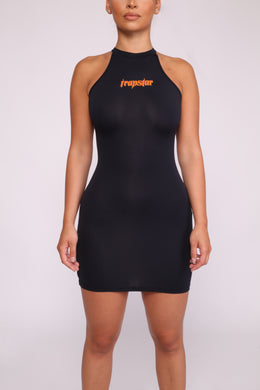 Ironblade Dress - Black/Neon Orange