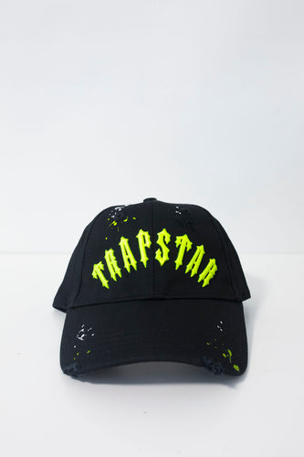 Speckled Irongate Arch Strapback - Black/Neon Yellow