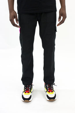 Decoded Cargo Pants - Black/Neon Pink