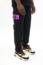 Load image into Gallery viewer, Decoded Cargo Pants - Black/Neon Pink