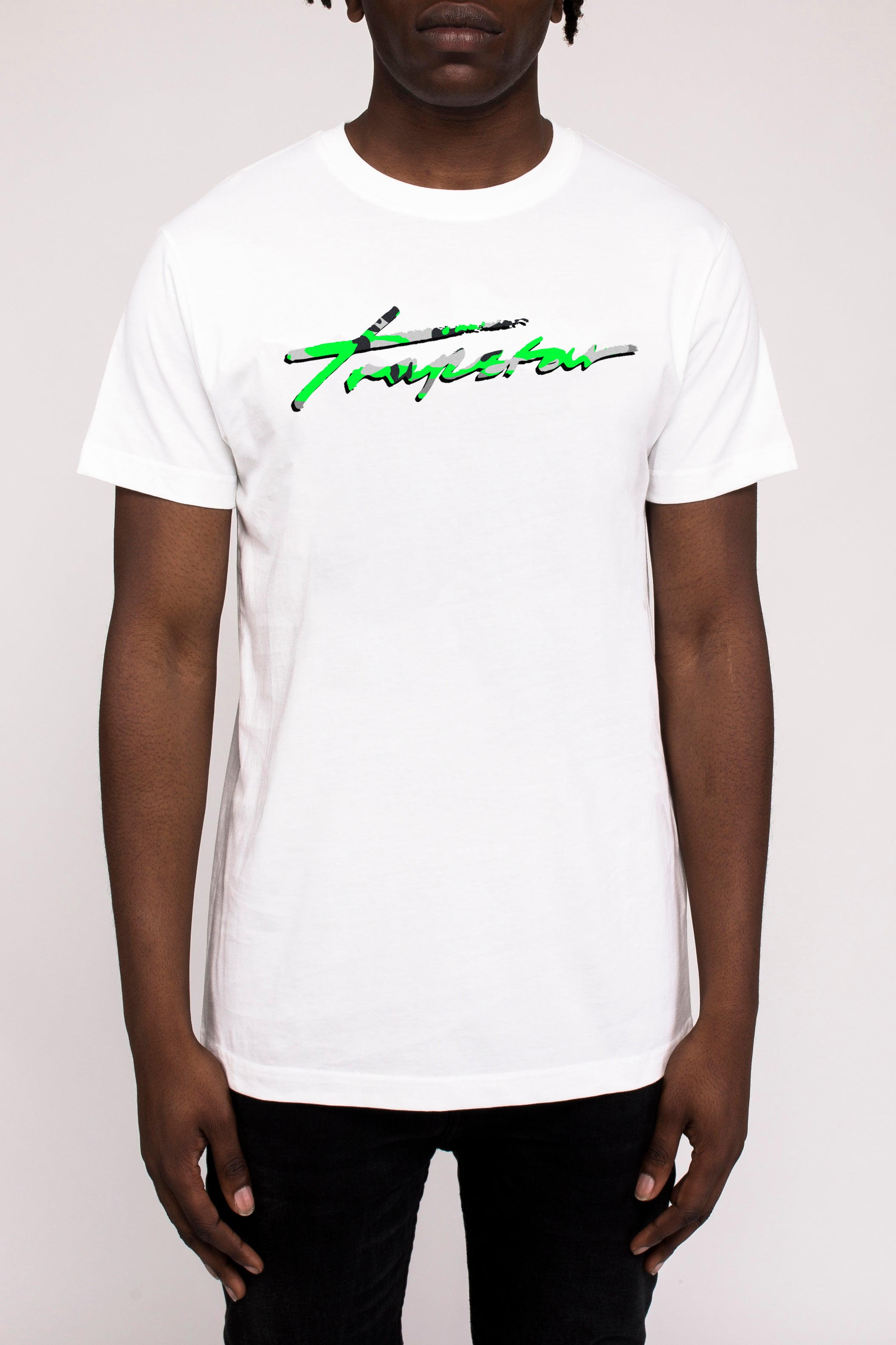 Signature Camo Tee Neon Green Edition - White