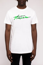 Load image into Gallery viewer, Signature Camo Tee Neon Green Edition - White