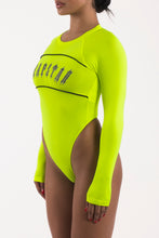 Load image into Gallery viewer, Irongate Panel Bodysuit - Neon Yellow/Black