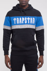 Decoded Panel Hoodie - Black/Blue/Marl Grey