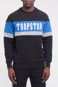 Decoded Panel Crewneck - Black/Blue/Marl Grey