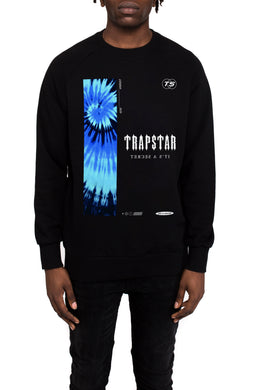 Electric Tie Dye Crewneck - Black