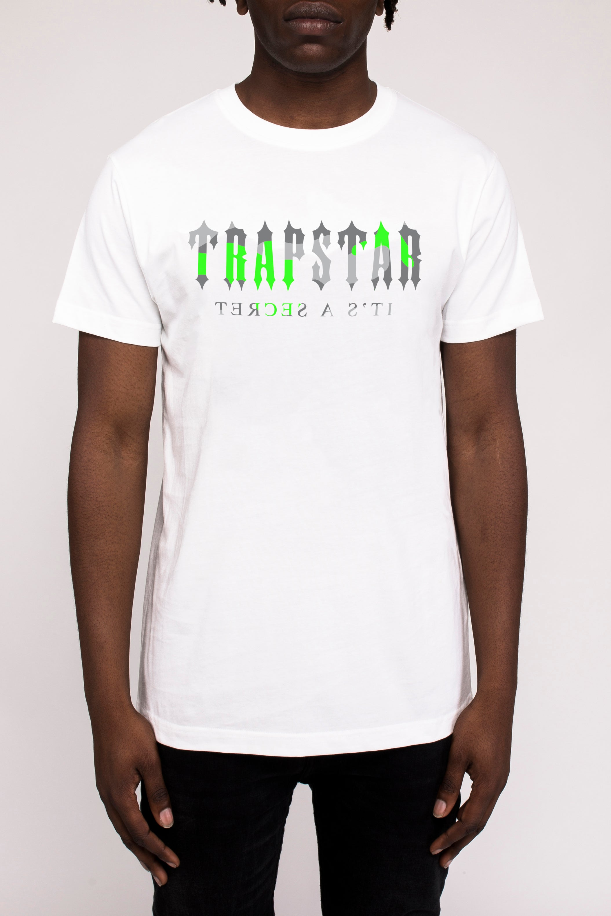 Decoded Camo Tee - White/Neon Green