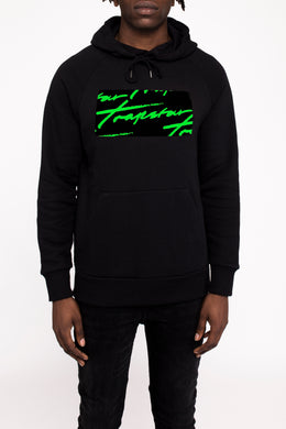 Signature Box Logo Hoodie - Black/Neon Green