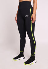 Load image into Gallery viewer, Trapstar Infrared Beam Leggings 2.0 - Black/Neon Yellow
