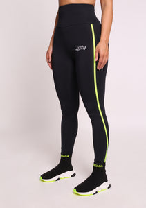 Trapstar Infrared Beam Leggings 2.0 - Black/Neon Yellow