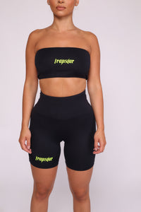 Ironblade Bandeau & Shorts - Black/Neon Yellow