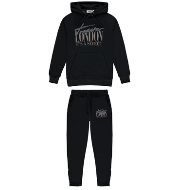 Trapstar London Chenille Hoodie Tracksuit - Black