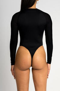 Irongate Panel Bodysuit - Black/Neon Orange