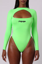 Load image into Gallery viewer, Ironblade Cut Out Bodysuit - Neon Green