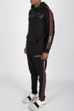 3D Embroidered Irongate Tape Tracksuit -  Black/White/Red