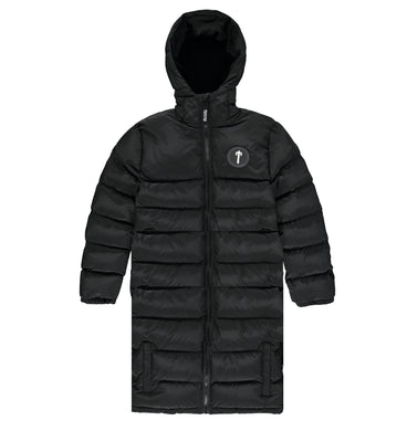 Irongate Hooded Oversized Quilted Jacket - Black